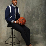 NBA Pre Draft Fashion: Malik Monk Dressed In A Saint Laurent Teddy Bomber Jacket & Gucci Ace Metallic Leather‑Trimmed Printed Satin Sneakers