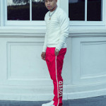 Justin Combs Spotted In A Pair Of Gucci Slim-Fit Cropped Embroidered Grosgrain-Trimmed Twill Trousers