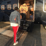 Jay Z Photographed In A Saint Laurent Flamingo Embroidered Denim Jacket At London Heliport