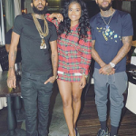 Passion For Fashion: Dave East Dressed In A Fendi Jaguar Cotton Tee-Shirt & Monster Suede & Leather Trainers
