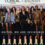 Beauty News: The L'Oréal Paris x Balmain Paris Lipstick Ad Campaign
