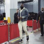 Professional Basketball Player James Harden Rocks Balmain and Balenciaga