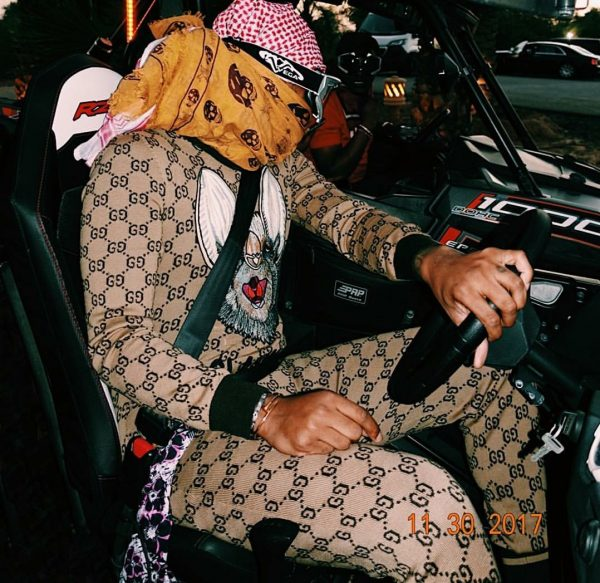 Future Wears A Gucci Brown Wool GG Supreme Jumpsuit From ...