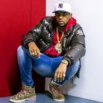 Celeb Style: Fabolous Wears A Moncler Down Jacket And Kith x Moncler Leopard Peak Mountain Boots