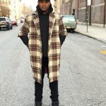 DJ Boof Dressed In A Fear of God Multicolor Wool Plaid Overcoat & Dsquared2 Sports Leather Jacket