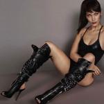 Fashion Model Bella Hadid Stars In Giuseppe Zanotti's Campaign
