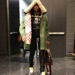 NBA Fashion: P.J. Tucker Wears A Calvin Klein 205W39NYC Men's Shearling-Trimmed Cotton-Silk Hooded Parka & Vetements + Rammstein Oversized Printed Cotton-Blend Jersey Hoodie