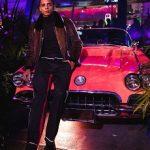Model Cordell Broadus Attends The Vanity Fair + Instagram Party In A Vladimiro Gioia Fur Bomber Jacket