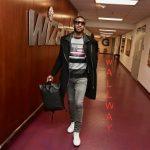 NBA Style: John Wall Wears A Givenchy Striped Flag Sweatshirt