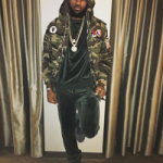 Lebron James' Saint Laurent Discovery Camo Cotton Gabardine Parka & Kith Velour Sweatsuit