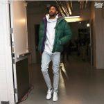 NBA Style: Brandon Ingram Wears A Moncler Green Down Dejan Jacket