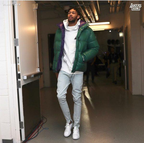 f0371282c NBA Style: Brandon Ingram Wears A Moncler Green Down Dejan Jacket ...