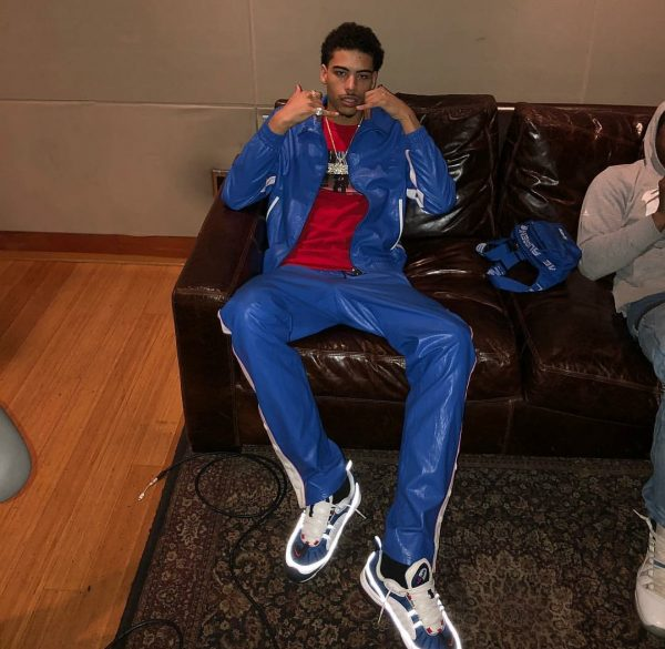 72ebc6fb032c NEW YORK — Brooklyn-native and rapper Jay Critch was spotted draped in  Maison Valentino. He had on a $1,350 Valentino High Neck Faux Leather  Bomber Jacket ...