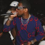 Fabolous Wears A Gucci Embroidered And Appliquéd Wool Sweater & Loewe Jacquard Cardigan