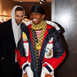 Christian Combs Wears A Gucci Hooded Nylon Caban Down Jacket
