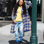 Monica Brown Spotted Wearing A Pair Of Givenchy Storm Rain Boots