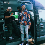 A-Boogie Wit Da Hoodie Wears A Gucci Bengal Tiger Print Jacket And Amiri Art Patch Skinny Jeans