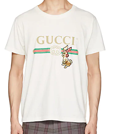 d5e6bd69ce95 Meek Mill Spotted In A Gucci Men's Rabbit-Patch Logo-Print Cotton ...