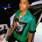 Passion For Fashion: Justin Combs Wears A Gucci Black Cat Silk Bowling Shirt From The Brand's Resort 2018 Collection