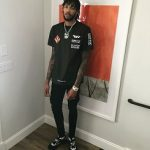 NBA Style: Brandon Ingram Wears An Off-White c/o Virgil Abloh x Gore-Tex Tee Shirt And Dior Homme Sneakers