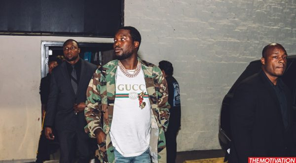 b944a1882ba0 Meek Mill Spotted In A Gucci Men's Rabbit-Patch Logo-Print Cotton Tee-Shirt