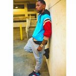 Hip-Hop Style: Fabolous Wore A Gucci Contrast Panel Cotton Blend Bomber Jacket, Logo Jogging Trousers And Rhyton Web Print Leather Sneakers