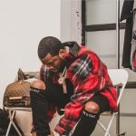 "Meek Mill Outfitted In An Amiri MOWRKMOHRED Jacket And RTA Men's ""Rest In Peace"" Skinny Jeans"