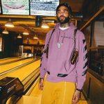 NBA Fashion: Willie Cauley Stein Sports An Off-White c/o Virgil Abloh Men's Purple X Champion Hoodie