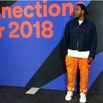 Pusha T's Calvin Klein 205W39NYC Zip Detail Trousers