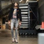 NBA Fashion: Brandon Ingram Outfitted In A Palm Angels Logo Bomber Jacket & Gucci Flashtrek Sneakers