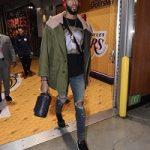 NBA Style: Anthony Davis Jr. Styles In Acne Studios, Dries Van Noten, Amiri & Off-White x Nike Blazer Mid 'Grim Reapers'