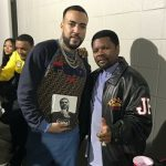 Celebs Style: French Montana And DJ Boof Wears A Fendi Logo-Appliquéd Fleece-Back Cotton-Jersey Sweatshirt