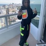 Swae Lee's Versace Cross Chainer Mesh And Suede Trainers