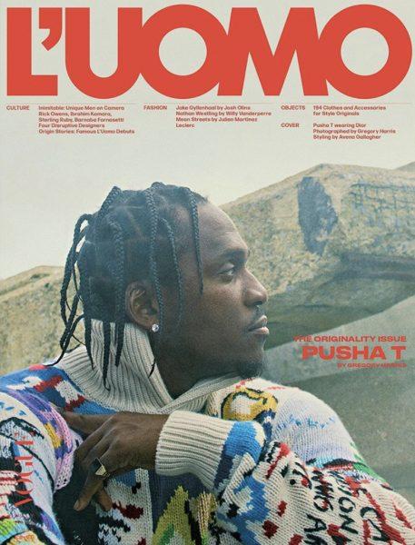 Hip Hop Star Pusha T Covers L Uomo Vogue Donovan Moore Fashion Book
