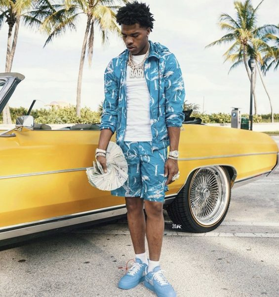 Rapper Lil Baby Outfitted In Dior And Virgil Abloh S Off White X