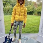 A-Boogie Wit Da Hoodie's $1,265 Moncler Maya Yellow Down Jacket