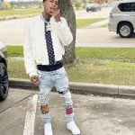 Rapper NBA Youngboy Dressed In Saint Laurent And Amiri