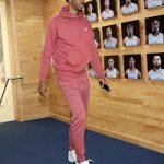 Basketball Player Ja Morant Wears A Nike Men Club Fleece Zip Hoodie And Men's Club Fleece Joggers