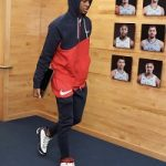 NBA Style: Ja Morant Spotted In A Nike Men's Swoosh Hoodie-Red And Matching Nike Men's Sportswear Swoosh Pants