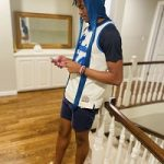 Easy Drip: Reese Dixon-Waters Styles In A Vintage Lakers Jersey, Nike Shorts & Nike Air Max 1/97 VF SW 'Sean Wotherspoon' Sneakers