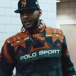 Carmelo Anthony's Polo Ralph Lauren Pocket Front Long Sleeve Pullover