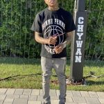 YBN Almighty Jay Styles In A Homme + Femme LA Basketball Tee-Shirt, Trademark Denim Gray And Black Jeans & Balenciaga Track LED Sneakers