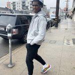 Joshua Christopher Wears Nike Tech Fleece Jogger Pants & Nike x Sacai LDV Waffle 'Pine Green' Sneakers