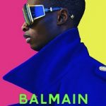 Model Bakay Diaby For Balmain Eyewear
