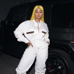 Blac Chyna Wears A Gucci Web Stripe Embroidered Jumpsuit