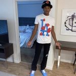 """Jalen Green Outfitted In LaRopa & Virgil Abloh'sOff-White x Nike Air Force 1""""MCA"""" Sneakers"""