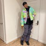 Jalen Green's Natasha Zinko Printed Bandana Work Jacket & Bajowoo's 99%IS Gobchang Pants