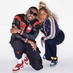 Mary J. Blige Wears A Gucci Technical Jersey Jacket With GG Sequins & Jordan 1 Retro High Tokyo Bio Hack
