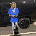 Lil Durk Spotted In Givenchy Oversized Logo T-Shirt & Alexander McQueen Oversized Sneakers