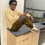 Joshua Christopher Dressed In Comme des Garçons Play, C'est Bon & Nike x Sacai